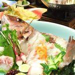 やぶもと - 《鯛姿造りと旬のコース》当店一番の人気メニュー。季節問わずご用意出来ます。