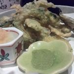 豊。 - 夏野菜(なんだっけ?)の天ぷら