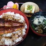 うなぎ処はちすか - 料理写真:鰻丼ランチ(梅)¥1,500-