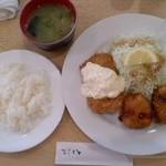 20535277 - クリームコロッケ・白身魚フライ定食