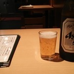 浅草 ときわ食堂 - ビール (スーパードライ)浅草はアサヒビールのおひざ元だから、スーパードライ比率高し