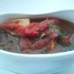 インド式 チャオカリー - サラッとしたカレーに鶏ムネ肉・トマト・ほうれん草いり
