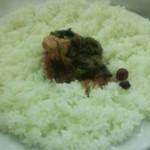 インド式 チャオカリー - ご飯には最初から少しだけカレーが