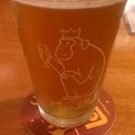 20538728 - 箕面ビールのおさるIPA                       グラスがカワイイ