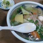 20539002 - 中華丼@スープ、漬物付き(2013.8.3)