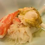 磯はん - 毛蟹とずわい蟹の蟹味噌添え
