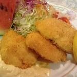 キッチン森本 - 地場産白身魚のフライ