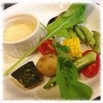 シチリア - 伊勢原野菜のバーニャカウダ  野菜が新鮮で美味しい