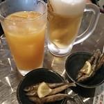 戎丸 - マンゴージュース、ビール