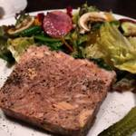 20545233 - パテはフォアグラ入りでとっても濃厚♪                       肉の食感もあって噛みしめるたびに口の中に旨味と風味が広がり、より一層ワインの味も引き立てます。