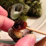 漁師居酒屋つねちゃん - 福岡産びな貝の塩ゆで。磯の香りはご馳走です。
