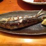 漁師居酒屋つねちゃん - 長崎産イワシ塩焼き。 青魚大好きです。 新鮮上質・甘塩で食べやすい。