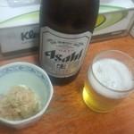 東京らぁめん 青龍 - ビールとお通し