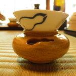 瓢亭 - 日本酒のおちょこも瓢箪柄