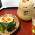 瓢亭 - 朝酒開始