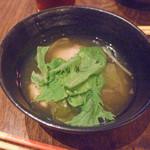 20552773 - 島豆腐のつくね汁