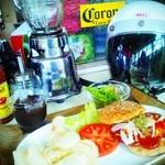 ブギーカフェ - チーズバーガーコンボ