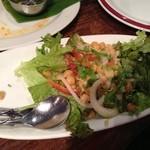 ダバ インディア - ひよこ豆と玉ねぎのサラダ¥530