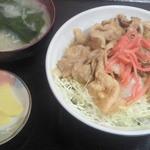 20557078 - 焼き肉丼/紅ショウガがいいアクセント!