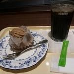 20558385 - ケーキセット(モンブランと、アイスコーヒーS)
