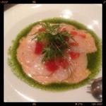 20561062 - 本日の鮮魚カルパッチョ。真鯛でした。1200円!安い!