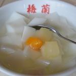 梅蘭 六本木ヒルズ店 - セットの杏仁豆腐