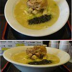 20563893 - 参鶏湯麺(サムゲタンメン)塩。らーめん 燕(つばめ)(愛知県豊明市)食彩賓館撮影