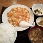 中国料理 家和 - 海鮮チリソース定食