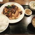 中国料理 家和 - 茄子の辛味噌炒め定食