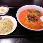 聚福楼 - タンタン麺+半チャーハン