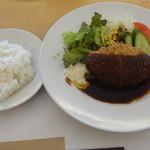 キッチン TANKO - 2013年8月 メンチカツセット 1080円