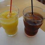 キッチン TANKO - 2013年8月 オレンジジュース&アイスティ 各100円