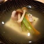 しゅん逢 紗々木 - ☆椀物…湯葉真丈と甘鯛がキラリ光ります(*^。^*)☆