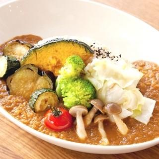 薬膳味噌カレー【ベジ・チキン】
