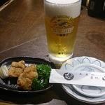 山加 - 料理写真:お通し、はものから揚げ