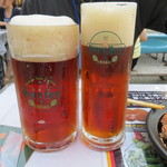 小樽ビール 夏のビアガーデン - ドンケル(M)と(S)の比較