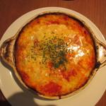 ロマンレコーズカフェ - 海老と地中海野菜のトマトクリームドリア
