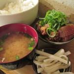車橋もつ肉店 - 450えん モツ煮(ライス)