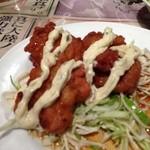 陳麻家 - ランチの鶏唐揚げ南蛮