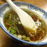 おかめ - おかめスープ200円