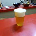 台湾名物屋台料理 潘さんの店 - 2013.08 生ビール、、プラコップ入り:笑