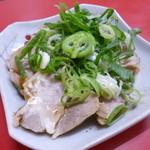 台湾名物屋台料理 潘さんの店 - 2013.08 ねぎチャーシュー、、これは5月くらいに食べた時の写真