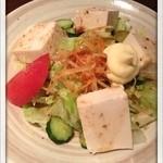 串焼処 鶏太 - 豆腐サラダ 2013.8