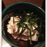 串焼処 鶏太 - 特選盛りについている、とりわさ 2013.8