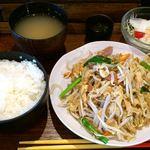 がちまや食堂 - がちまや食堂 @板橋本町 フーチャンプル定食 580円