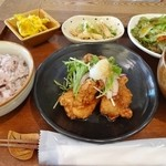 ii-ma - 十三穀米のごはんセット(揚げ鶏のサラダ風おろしポン酢)