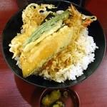 TENDON あさひ - 天丼500円、ライス大+100円
