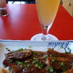 20592360 - 鴨山椒焼とビール