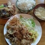 一木 - 豚の生姜焼き定食。
