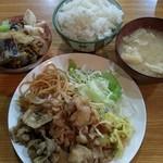 一木 - 豚の生姜焼き定食。¥750。